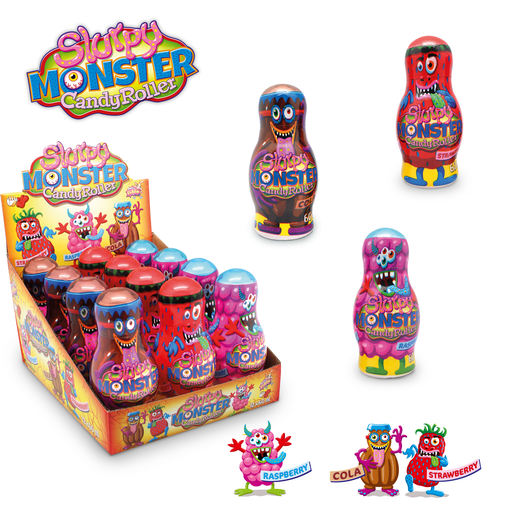 Slurpy Monster Candy Roller